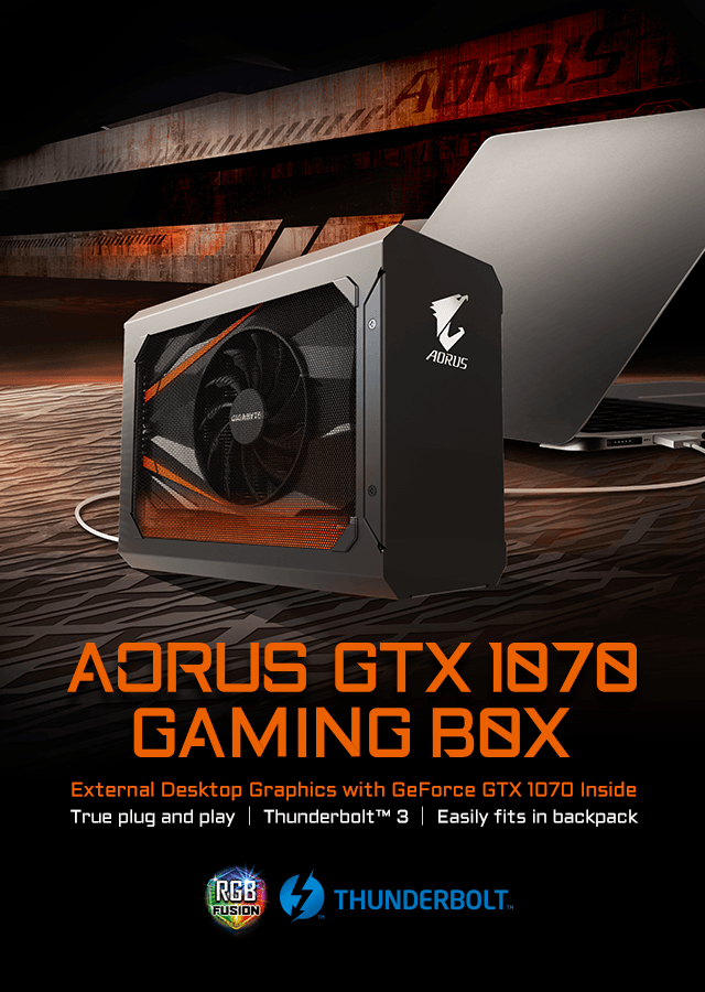 AORUS GTX1070 gaming box
