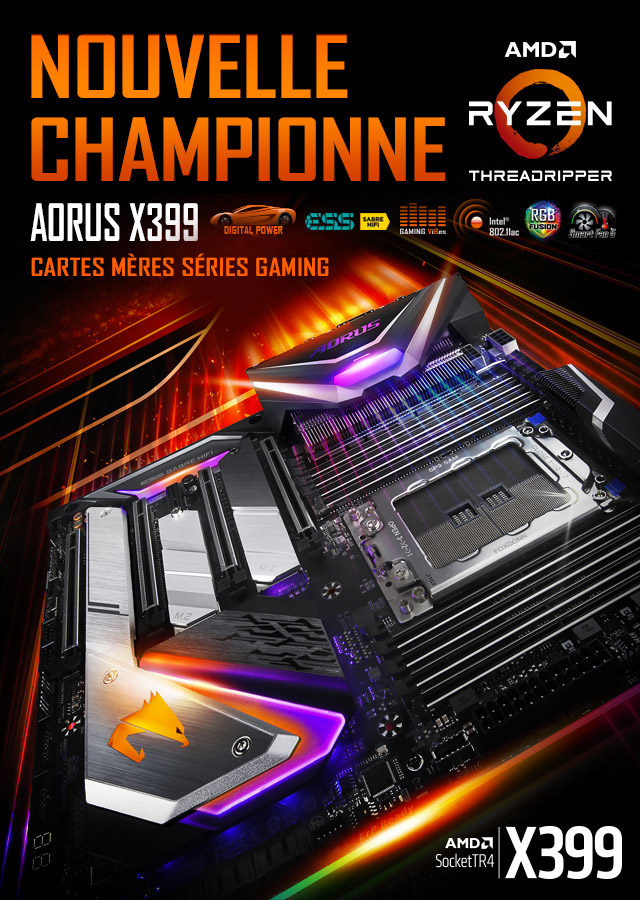 AORUS X399 - Cartes mères séries gaming
