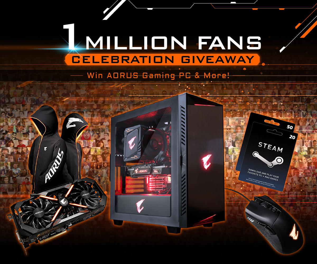 GIVEAWAY DE CELEBRATION DU  MILLION DE FANS AORUS