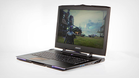 A gaming laptop very high end, playing the hand of  quite thin and very powerful.